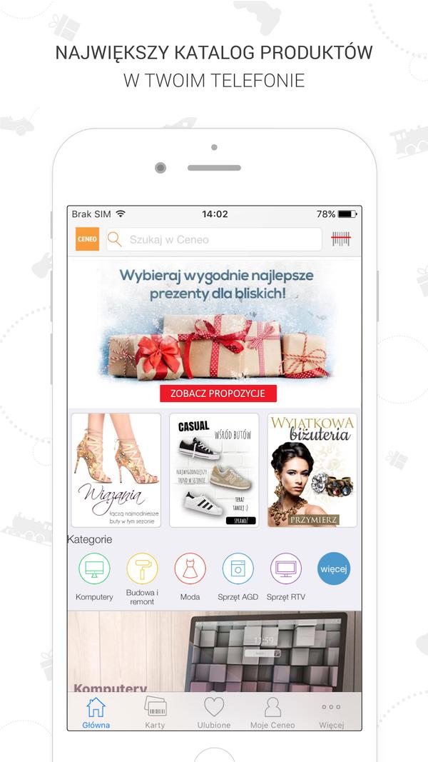 Źródło: Ceneo.pl. Aplikacja mobilna ceneo.pl - strona główna