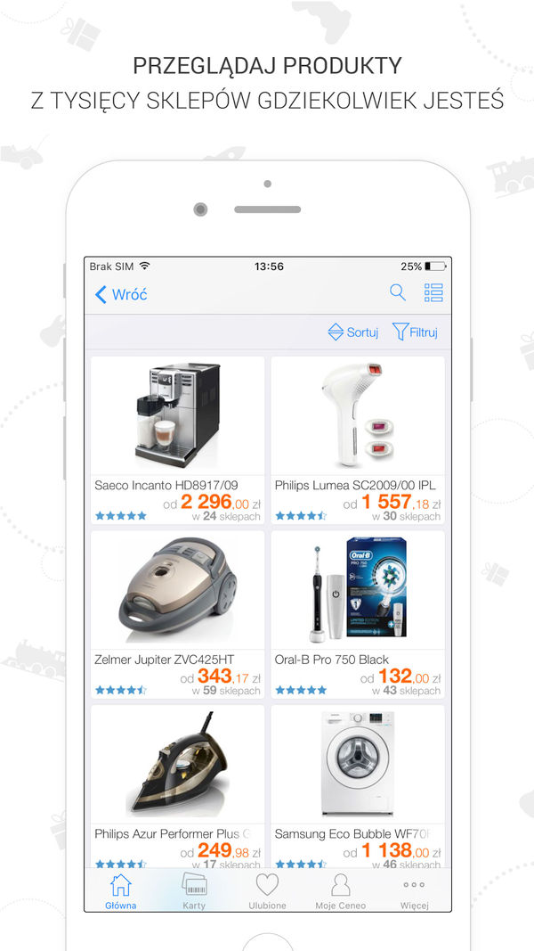 Źródło: Ceneo.pl, Aplikacja mobilna ceneo.pl - strona produktowa.
