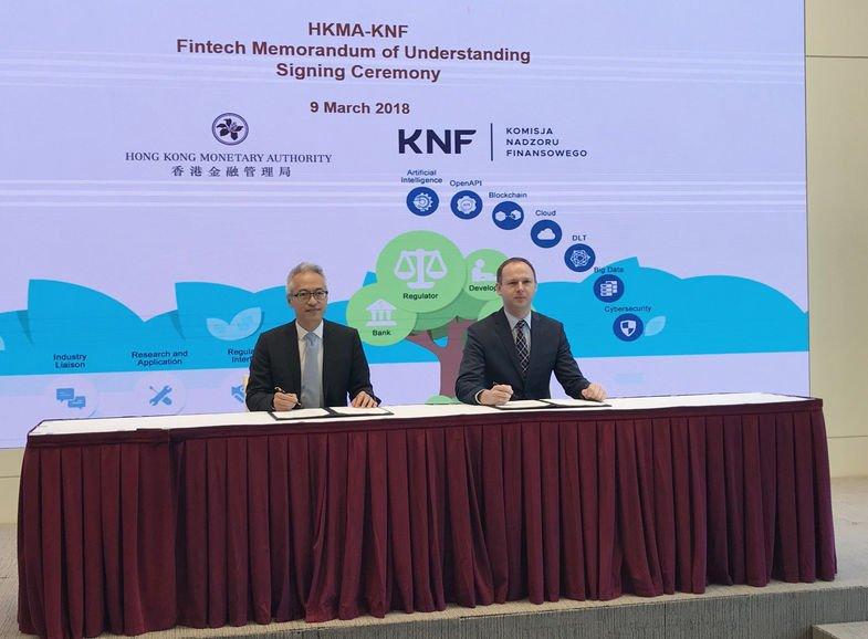 KNF i HKMA podpisują porozumienie o współpracy.